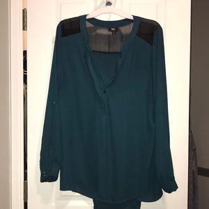 Teal dressy blouse